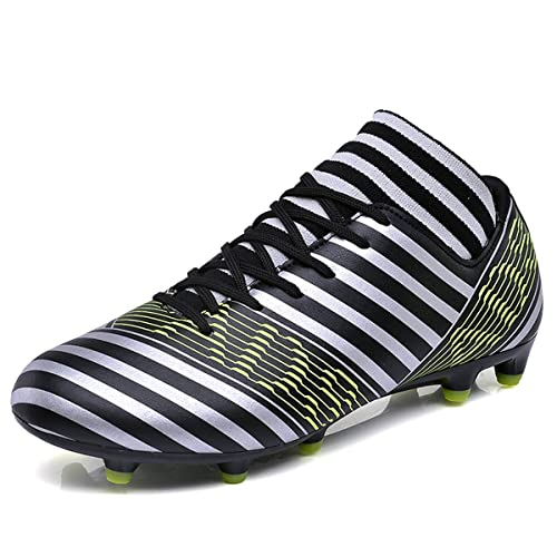 a1f8d7e2d BADIER Mens High Top Soccer Shoes Indoor Outdoor Football Boots Athletic  Turf Team Cleat Running Sports Lightweight Breathable Anti-Skid Damping  Shoes for ...
