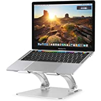 "Nulaxy Laptop Stand, Ergonomic Height Angle Adjustable Computer Laptop Holder Compatible with MacBook, Air, Pro, Dell XPS, Samsung, Alienware All Laptops 10-17.3"", Supports Up to 44 Lbs-Silver"