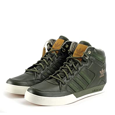 b7247b28c7ce83 Adidas Originals Hardcourt HI Waxy Crafted Mens Trainers Sneakers BB0230  Green