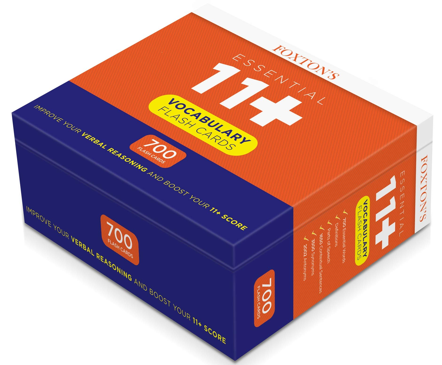 Foxton's 700 Vocabulary Flash Cards for the 11 Plus Exam with
