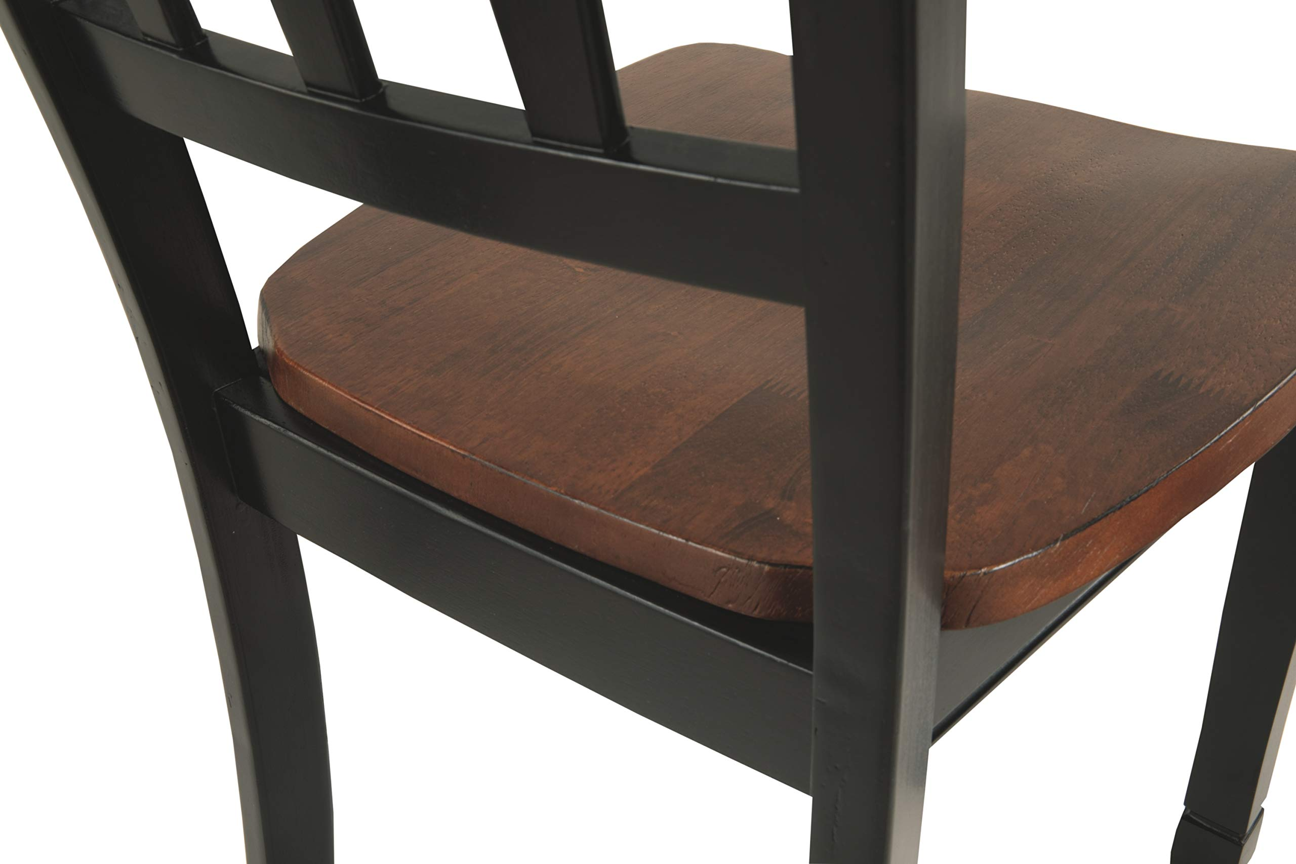 Ashley Furniture Signature Design - Owingsville Dining Room Side Chair - Latter Back - Set of 2 - Black-Brown by Signature Design by Ashley (Image #4)