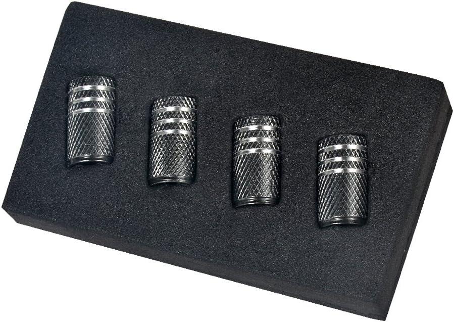 1set, Blue Qingtech 4pcs//Set Aluminium Tyre Valve Caps for Chevrolet Auto Car