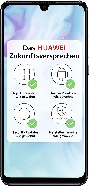 Huawei P30 lite Dual SIM Smartphone Bundle (6.15 Inch, 128GB ROM, 4GB RAM, Android 9.0) Black + Micro SD 16GB Memory Card [Exclusive to Amazon] - UK Version