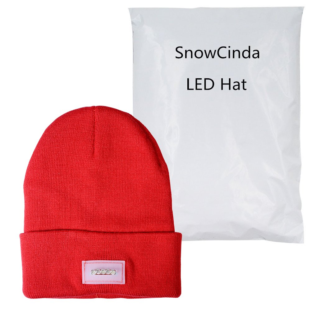 f531a11adc7 Grilling One Size Fits Most or Handyman Working Camping Walking Auto Repair  SnowCinda Unisex 5 LED Knitted Flashlight Beanie Hat Cap ...