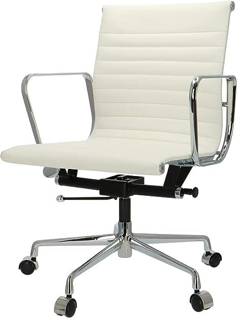 Popfurniture Pop Designer Office Chair Desk Chair Made Of Calfskin Height Adjustable Amazon De Kuche Haushalt