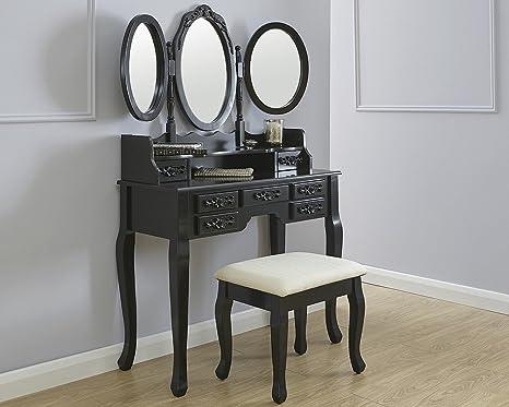 Arabella tavolo da toeletta trucco cosmetico scrivania w sgabello