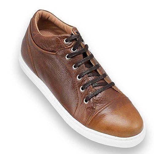 Masaltos Zapatos de Hombre con Alzas Que Aumentan Altura Hasta 7 cm. Fabricados EN Piel. Modelo Miami: Amazon.es: Zapatos y complementos