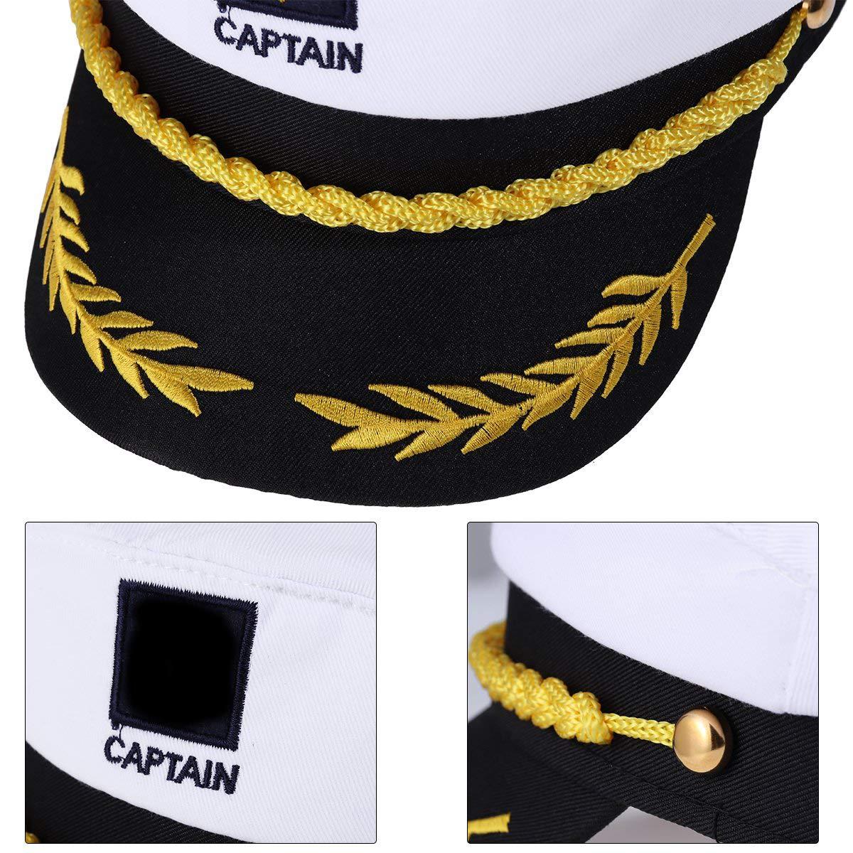 WENTS Capitán Adulto Sombrero de Cosplay Gorra Yate Barco ...