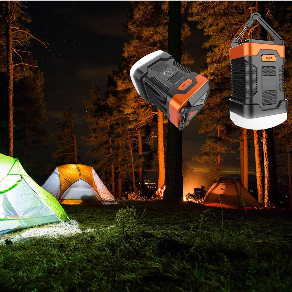SUNTATOP Lanterne de Camping Chargeur de Banque dAlimentation 10000mAh IP65 /Étanche LED Lampe de Secours Ext/érieure pour Lampe de P/êche de Camping