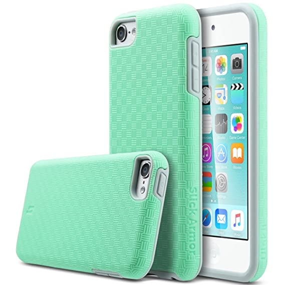 sports shoes d8fed 7ab88 ULAK iPod Touch 6 Case,iPod Touch 5 Case, Slick Armor Slim-Protection Case  for Apple iPod Touch 6 5th Generation (Green)