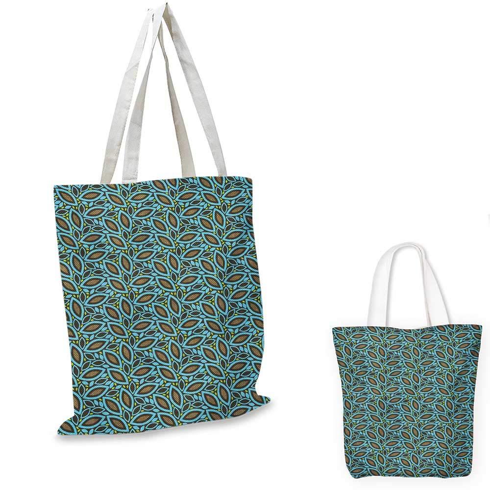 Leaves canvas messenger bag Foliage Pattern with Spring Season Theme Illustration Botanical Gentle Composition canvas beach bag Multicolor 12x15-10