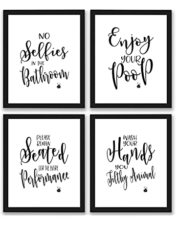 11ae91665d615 TheNameStore Bathroom Quotes and Sayings Art Prints