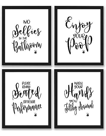 ac88eb1fc92 TheNameStore Bathroom Quotes and Sayings Art Prints