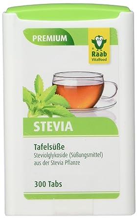 Raab Stevia Tabs, 300 Tabletten, 1er Pack (1 x 18 g Dose): Amazon.de ...