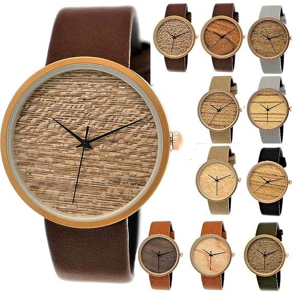 Elegante Pure Time® – Reloj de mujer con certificado de madera natural Reloj de pulsera