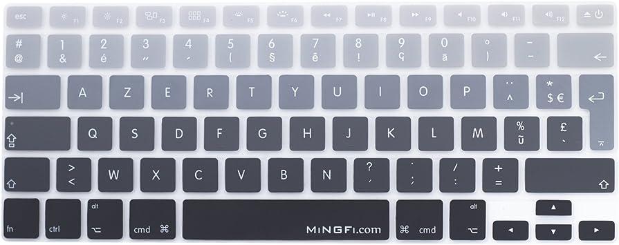 MiNGFi francés French AZERTY Cubierta del Teclado/Keyboard Cover para MacBook Pro 13