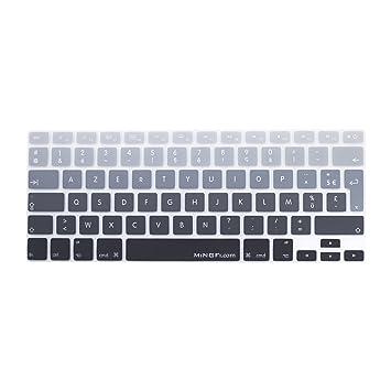 "MiNGFi francés French AZERTY Cubierta del teclado / Keyboard Cover para MacBook Pro 13"" 15"""