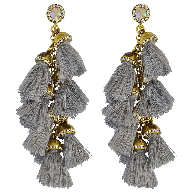 Idealway Handmade Exaggerated Gemstone Earrings Image 1