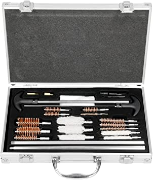 ECD Germany Kit de Limpieza para Armas Universal 103 Piezas con Maletín Set de Herramientas De Desatasque Pistola Limpiador Cualquier Calibre de Armas Escopeta de Fuego Limpias con Estuche: Amazon.es: Bricolaje y