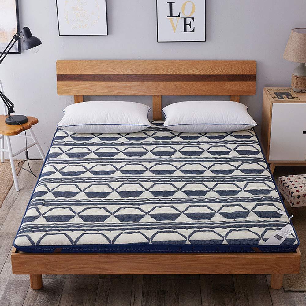 C 180x200cm 3D Bamboo Charcoal Thicken Breathable Mattress, Folding Non-Slip Tatami Floor Mattress Hotel Dormitory Futon Mattresses - 90x200 cm (35x79 Inch),B,180x200cm