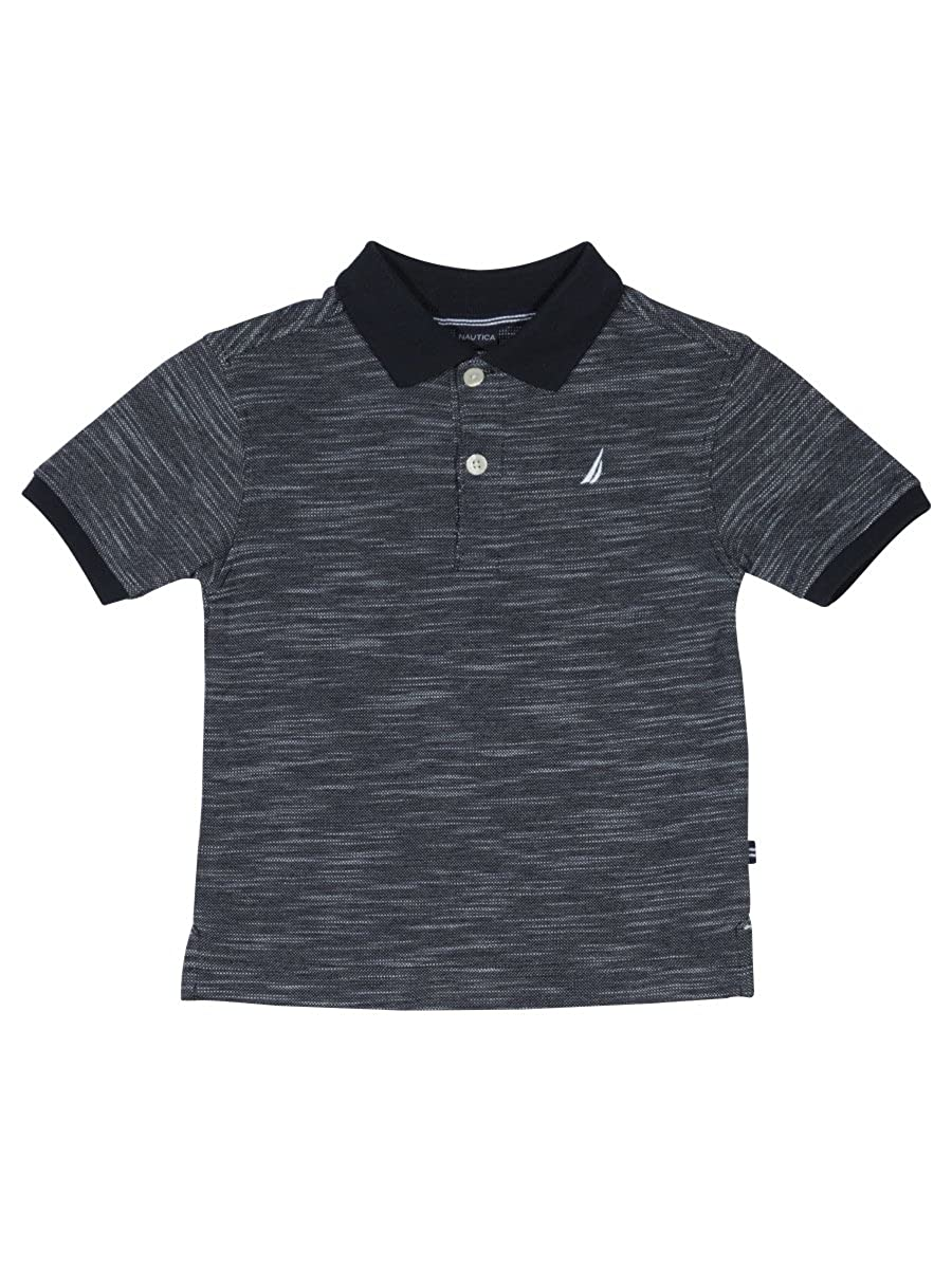 Nautica Boys Short Sleeve Solid Deck Polo Shirt