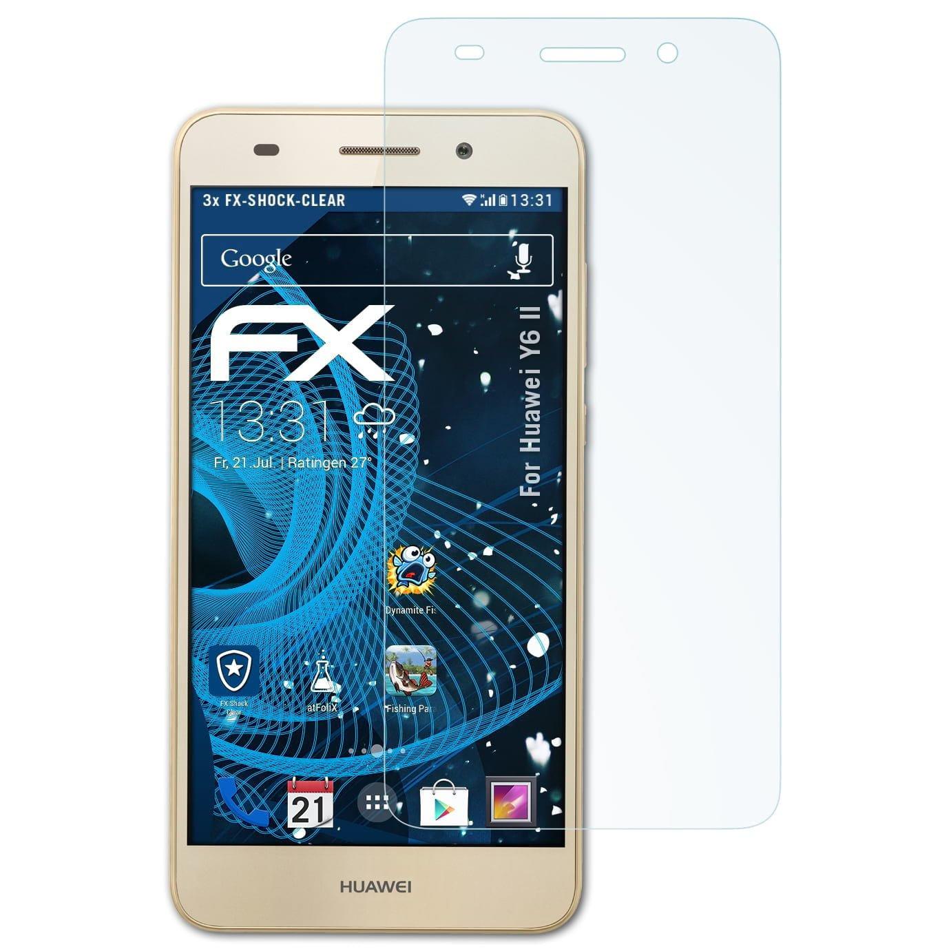 atFoliX Antichoque Película Protectora Compatible con Huawei Y6 II ...