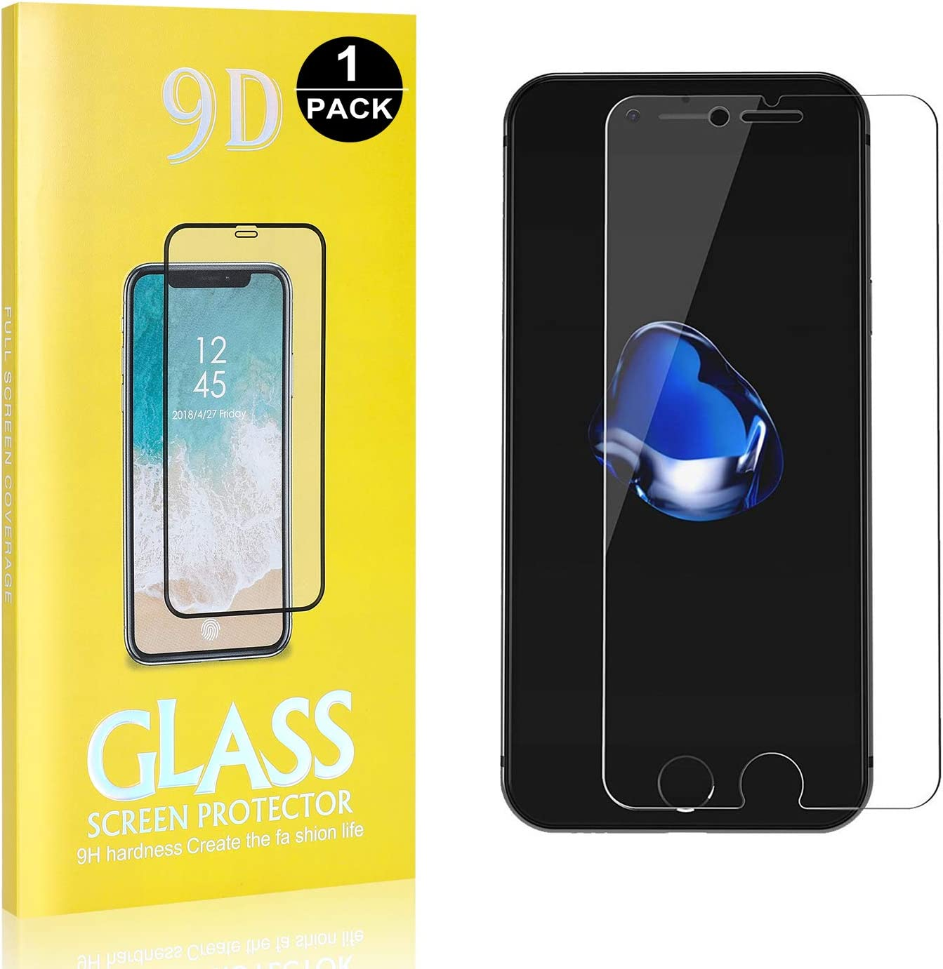 Ultra Transparent Duret/é 9H 2 Pi/èces Anti Rayures Protection en Verre Tremp/é /Écran pour Apple iPhone 6 //6s //7//8 Bear Village/® Verre Tremp/é iPhone 6 //iPhone 6s //iPhone 7 //iPhone 8