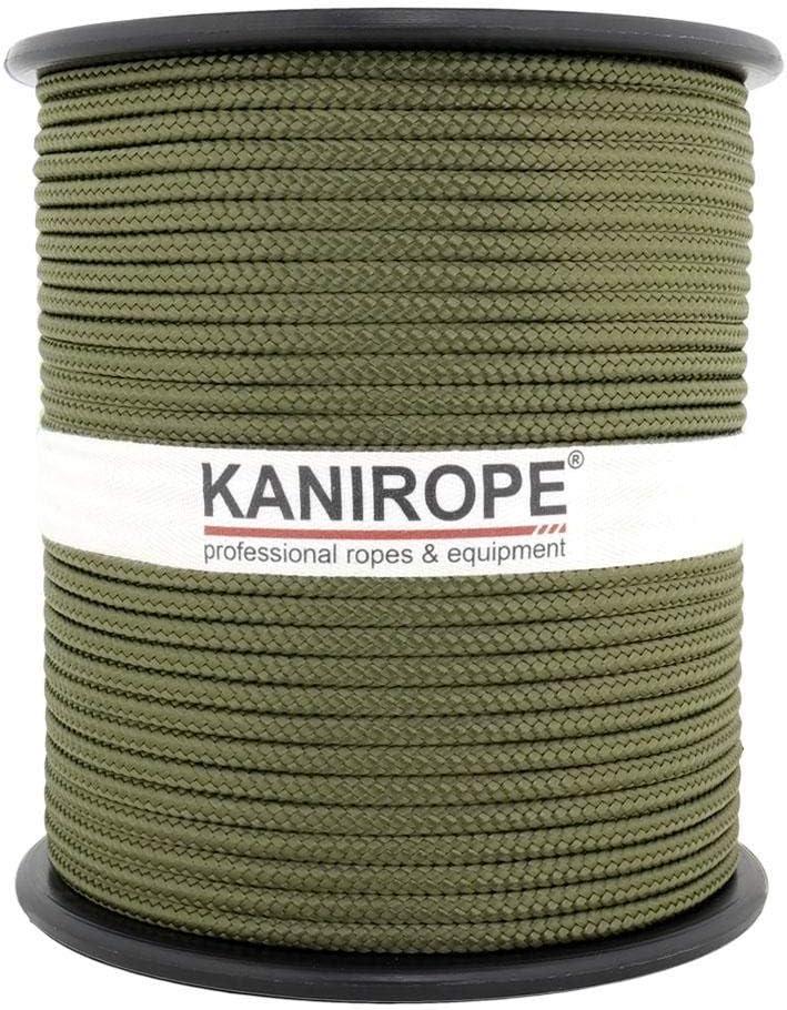 2802 PP Seil Polypropylenseil SH 3mm 100m Farbe Oliv Geflochten