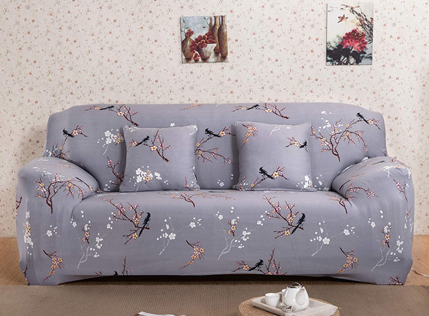 WOWTOY Sofa Cover 1 2 3 4 Seater Slip Cover Sofa Couch Stretch Elastic Fabric Sofa Protector
