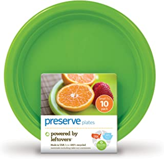 product image for Preserve On The Go 7-Inch Small Plates, Apple Green, Set of 10, Pack of 12