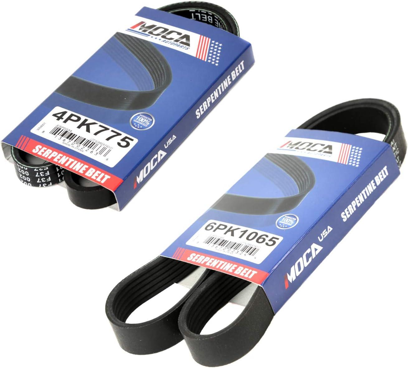2006 dodge ram 1500 serpentine belt diagram v6 amazon com moca 4pk775 6pk1065 epdm serpentine belt professional  epdm serpentine belt