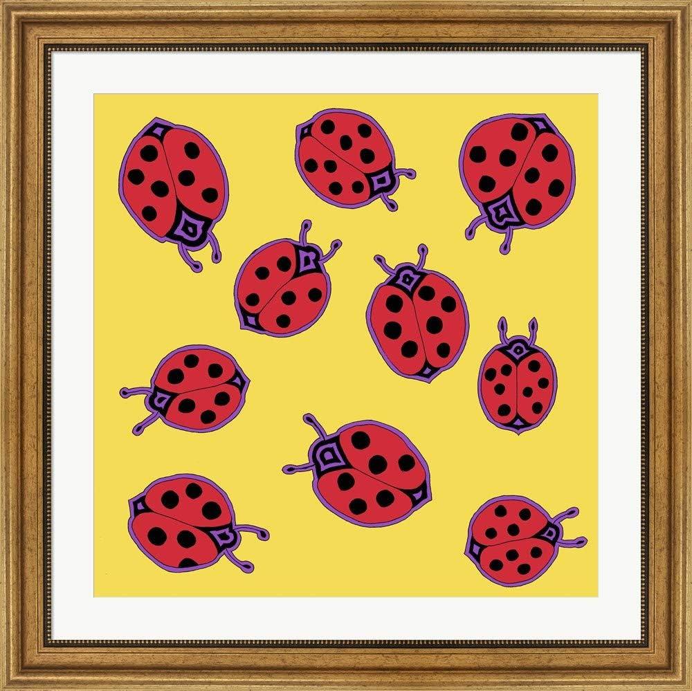 Amazon Com 10 Ladybugs By Willow Bascom Art Print 20 X 20 Inches