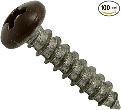Hard-to-Find Fastener 014973208042 White Phillips Pan Sheet Metal Screws Piece-100 8 x 3//4
