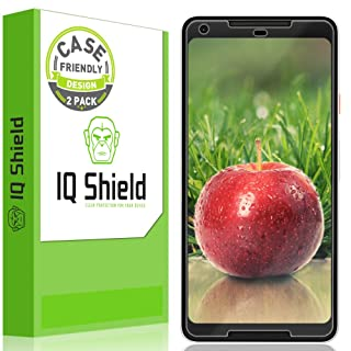 Google Pixel 2 XL Screen Protector [Not Glass][2-Pack], IQ Shield LiQuidSkin Full Coverage Screen Protector for Google Pixel 2 XL [Case-friendly][HD Clear][Anti-Bubble][Anti-Scratch]