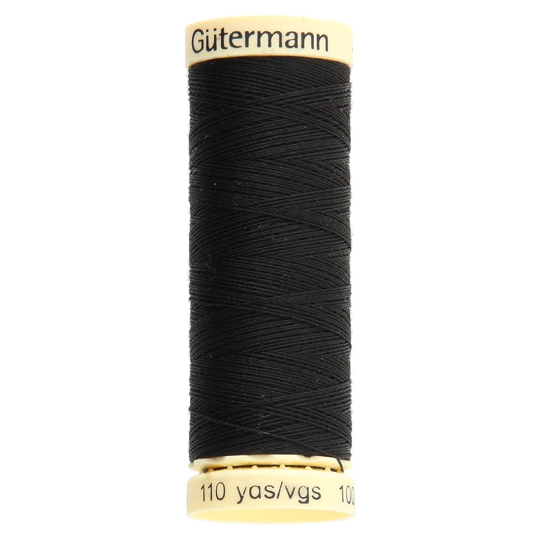 Gutermann - Filo in poliestere da cucito, 100 m, colore: Nero GUT_788988-000
