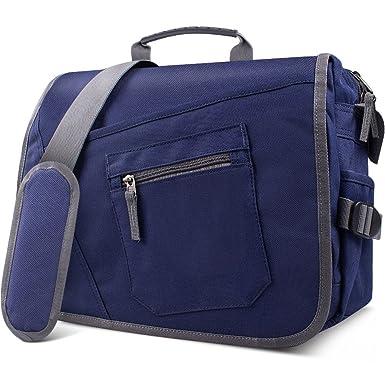 302c5cf0bfcd Amazon.com  Qipi Messenger Bag - Shoulder Bag for Men   Women