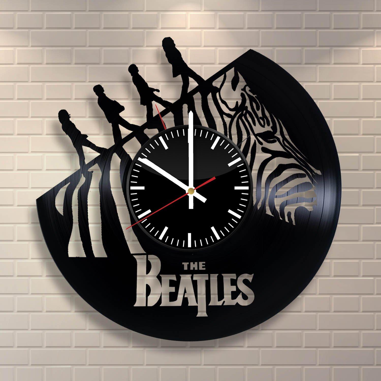 ビートルズ Beatles 音楽 部屋 デザイン ビニール レコード 時計 アート 家 インテリア フィードバックのために賞を獲得します B01N7XVOET
