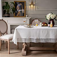 White Lace Tablecloth Embroidery Table Cloths Cover Hollow Top Decoration Rectangle,90x90CM