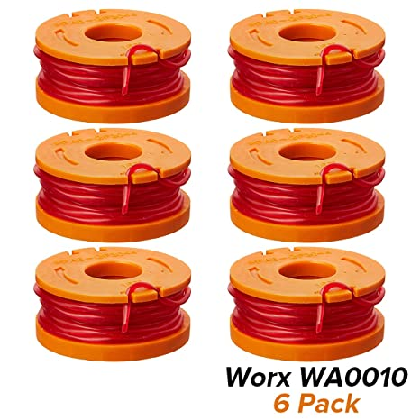 10-ft Replacement Spool Line for WORX WA0010 Trimmer Edger Weed Eater 6 Pack
