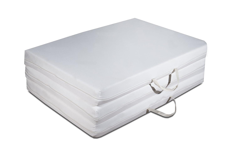 Futon Easy Foldable Mattress with Polyurethane Foam Core, 97 x 200 H 9 cm EVERGREENWEB