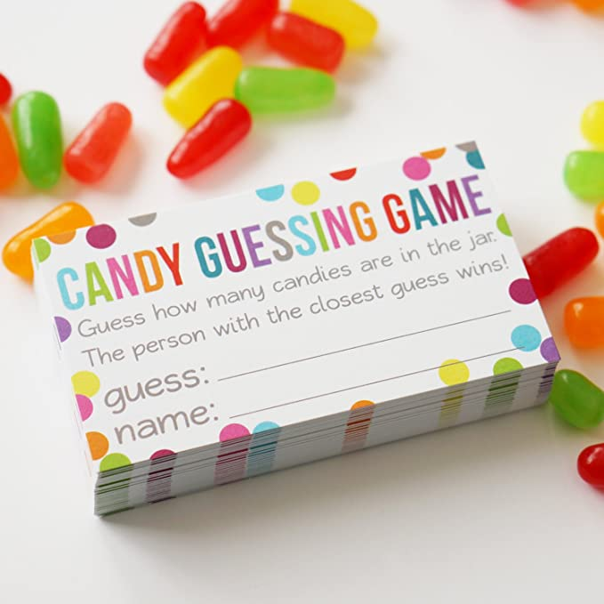 Easy Baby Shower Games With Printable Game Sheets   Baby ...  Jelly Bean How Many Slips