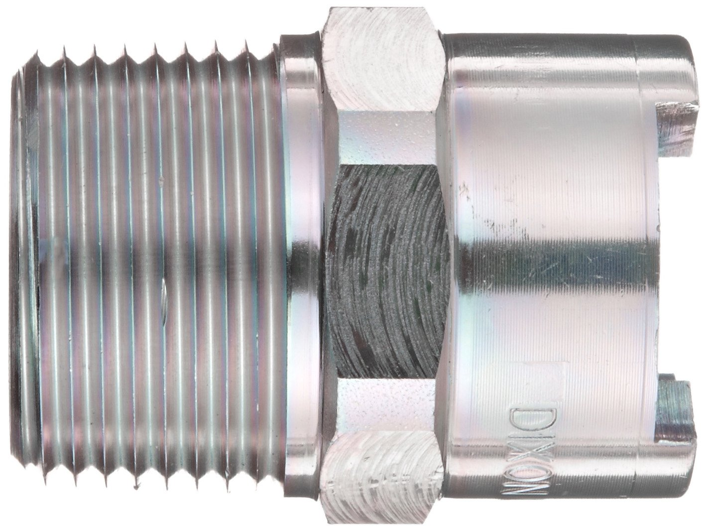 Dixon QM65 Plated Steel Dix-Lock Quick Acting Air Hose Fitting 1//2 Female Head x 1 NPT Male