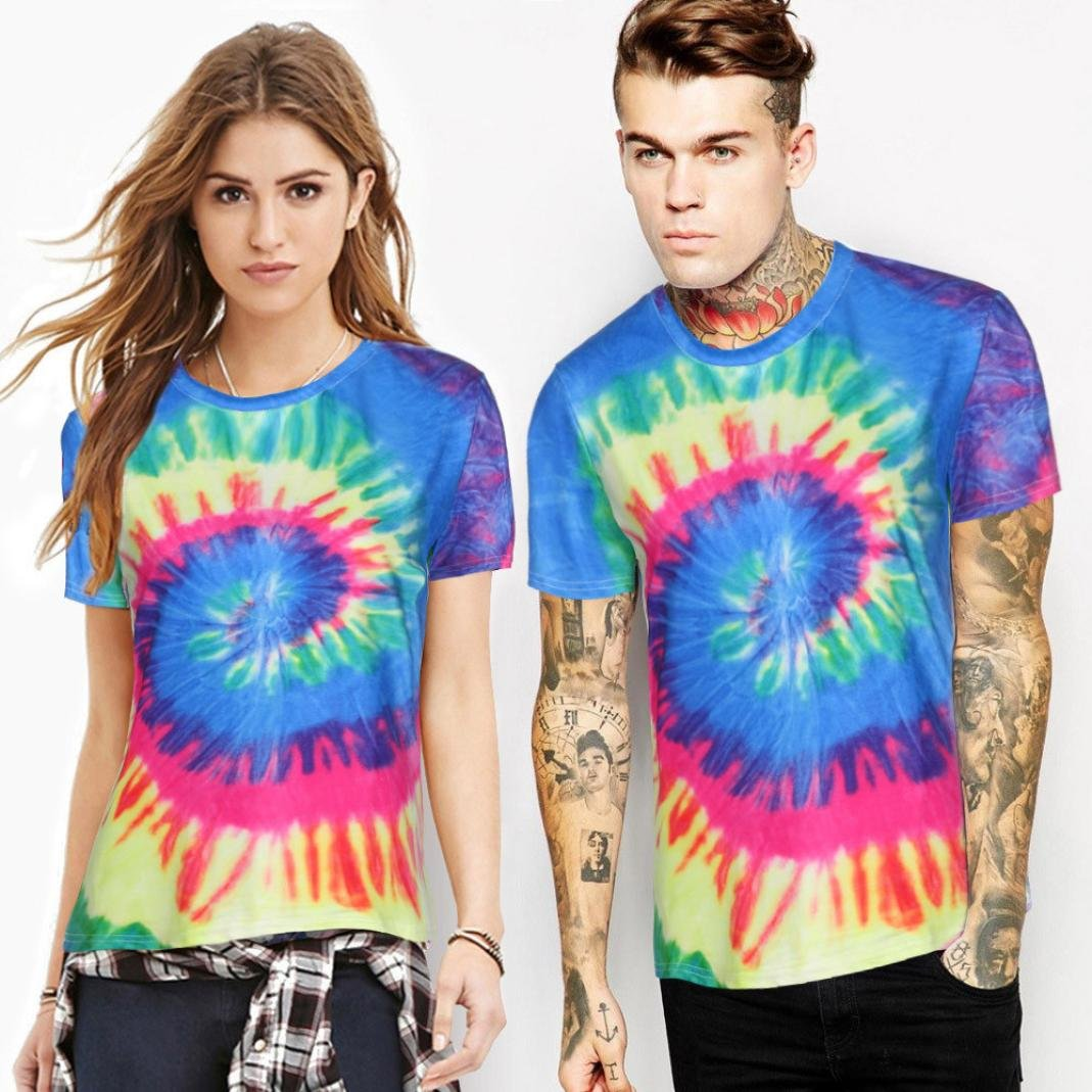 Amazon com: Sontefz Men Women Couples Colorful Handcrafted Tie Dye
