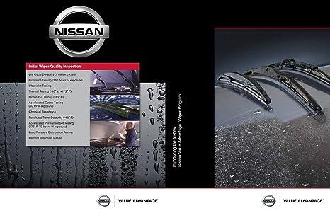 Amazon.com: Genuine Nissan OEM VA Wiper Blade Kit - Versa Note (2013-2019): Automotive