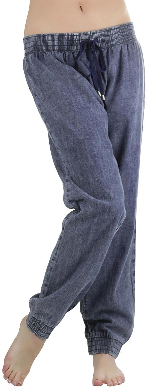 ToBeInStyle Women's Chambray Acid Jogger Pants