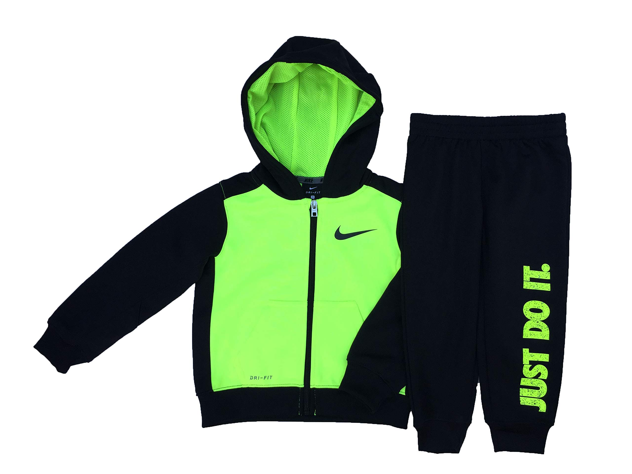 Nike Little Boys' Toddler Therma Dri-Fit 2-Piece Tracksuit - Black, 4t