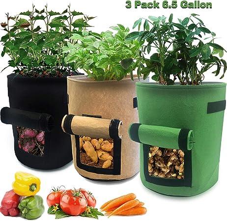 Amazon Com Nicheo 3 Pcs 6 5 Gallon Garden Boxes Easy To Harvest