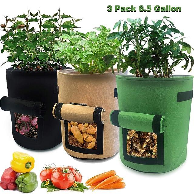 Nicheo 3 Pcs 6.5 Gallon Planter Pot