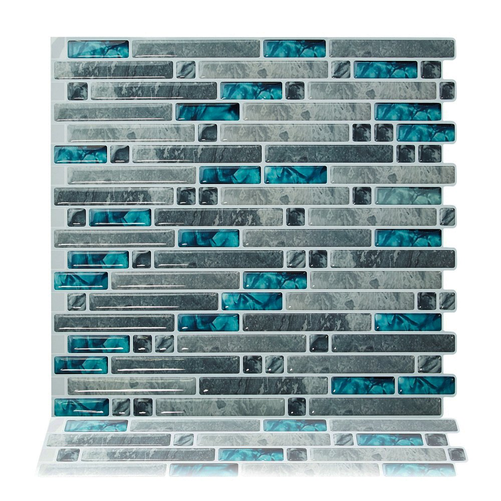 Cocotik Peel and Stick Tile 10.5''x 10'' Adhesive Vinyl 3D Wall Tiles,10 Pack