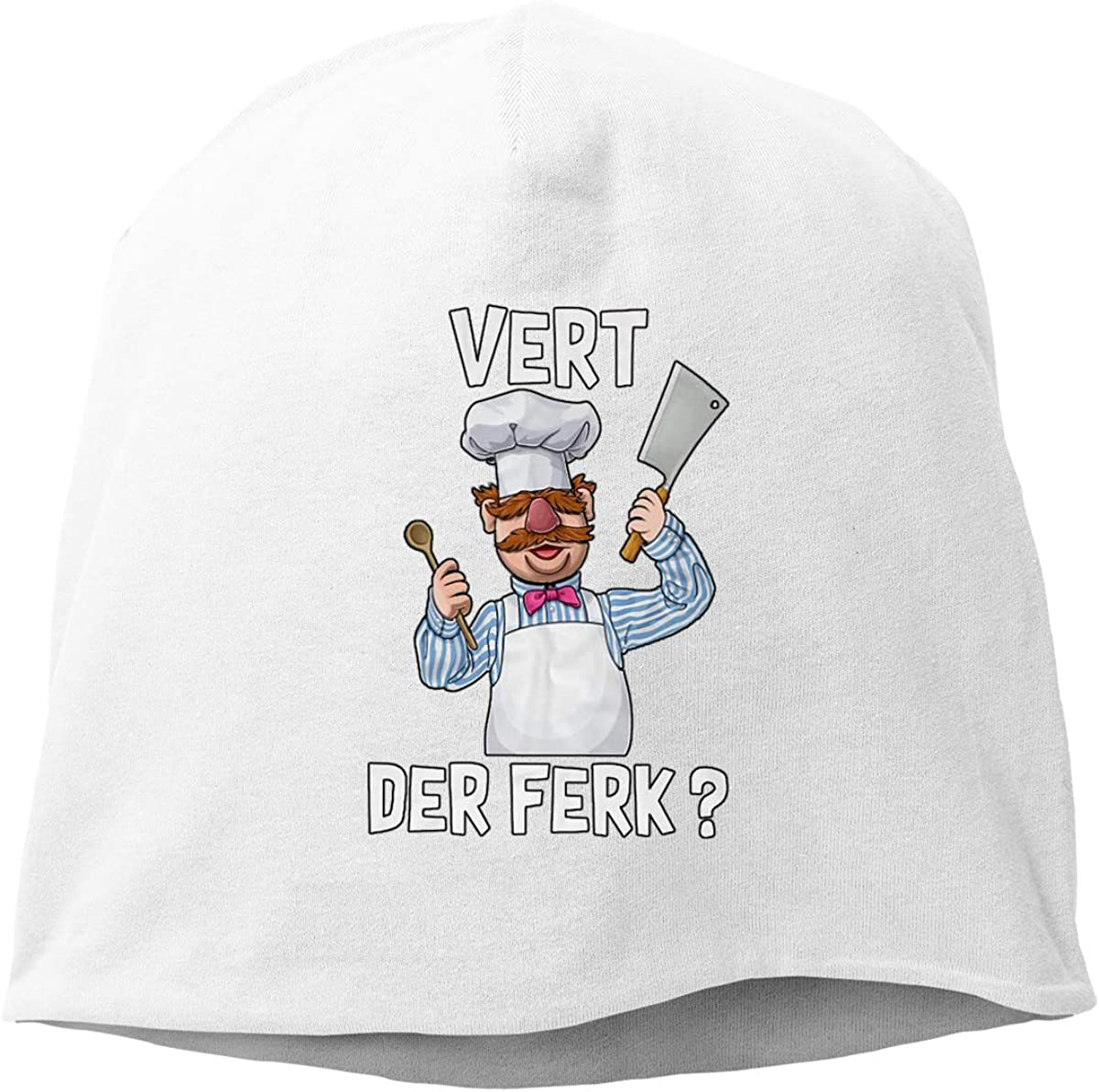 Vert Der Ferk The Swedish Chef Skull Cap Helmet Liner Beanie Cap for Men Hip Hop Hedging Head Hat